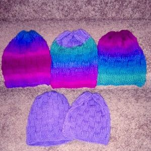 Other - 5 Handmade NEW Knit Hats $25